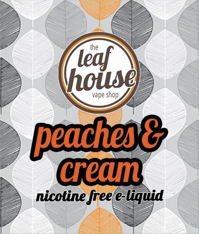 Peaches & Cream- Leaf House E-liquid - Leaf House Vape Shop Melbourne Australia