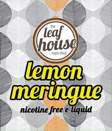 Lemon Meringue- Leaf House E-liquid - Leaf House Vape Shop Melbourne Australia