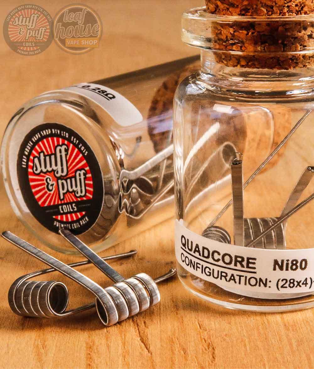 Stuff and Puff Coils - Quadcore Ni80 0.28ohm - Premade Coils
