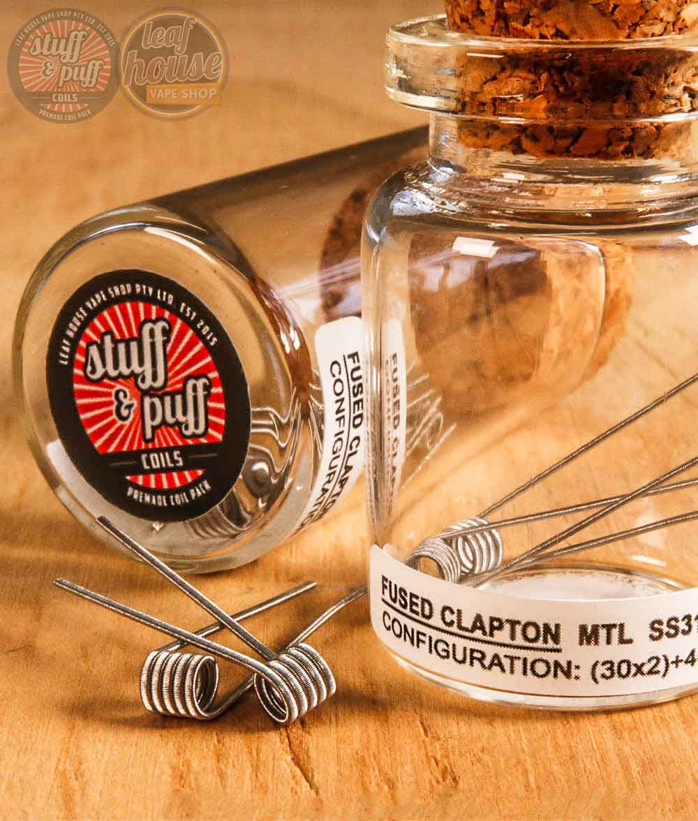 Stuff and Puff Coils - Fused Clapton MTL SS316L 0.55-0.64ohm - Premade Coils