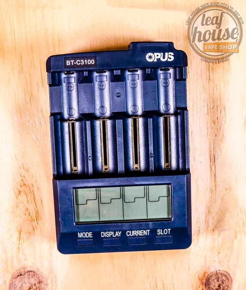 Opus BT-C3100 V2.2 Smart Digital Intelligent 4 LCD Slots Universal Battery Charger