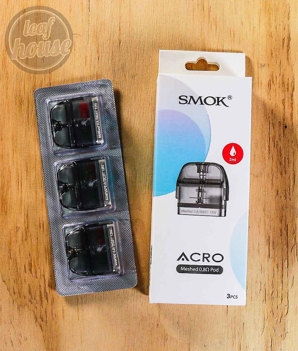 Smok Acro Replacement Pods-0.8ohm-Vape Shop Australia