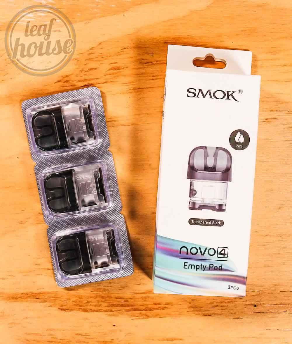 SMOK NOVO 4 Empty Replacement Pods-Pack of 3-Vape Australia